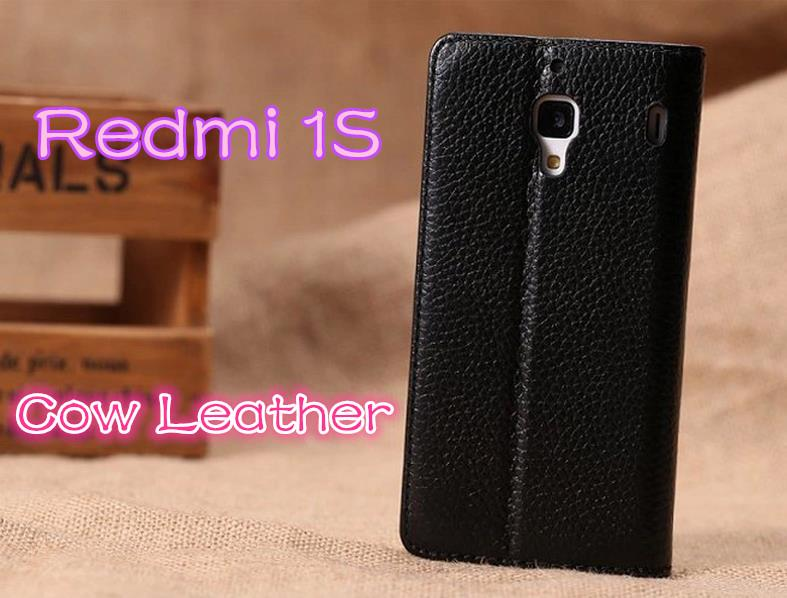 Xiaomi Redmi Hongmi 1S Cow Leather Flip Case Cover