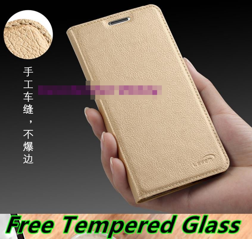 Xiaomi Redmi Note 2 3 Flip Stand Case Cover Casing + Tempered Glass