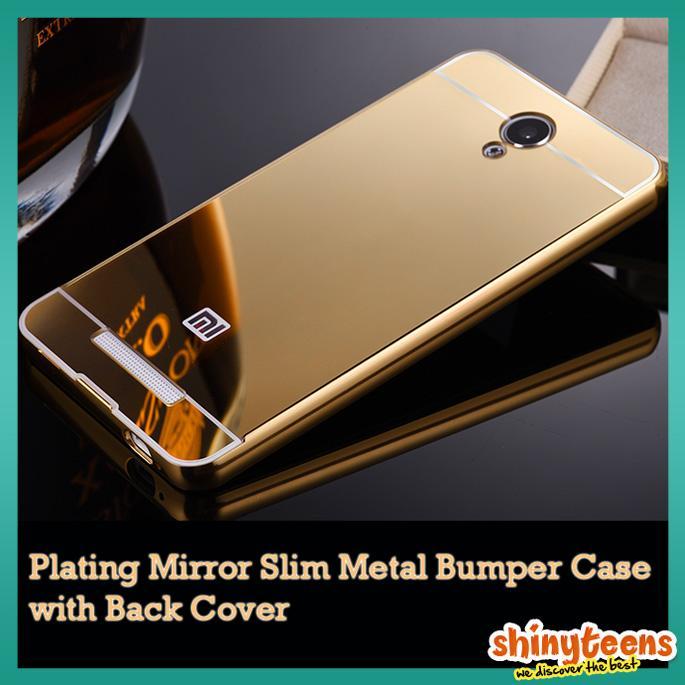 Xiaomi Redmi Note 2 Mi 4i Plating Mirror Slim Metal Bumper Case. ‹ ›