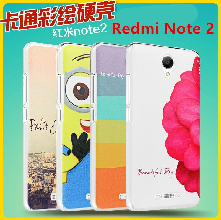 Xiaomi Redmi Note 2 Note2 Cartoon Hard Back Case Cover Casing +Free SP