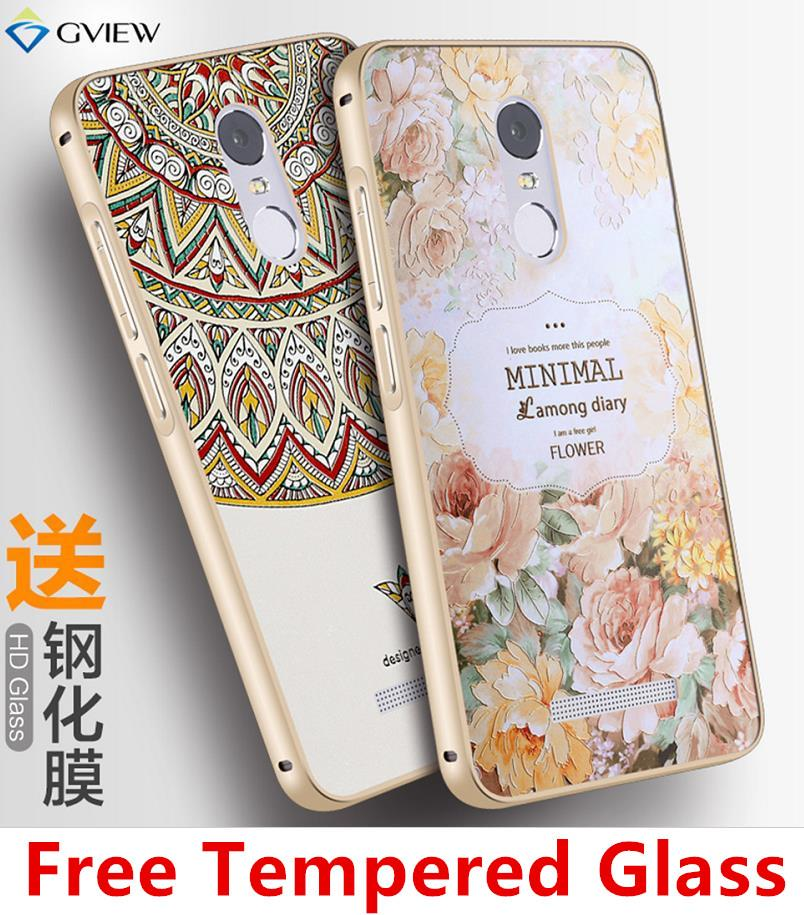 pretty nice 17d63 a7858 Xiaomi Redmi Note 3 3D Metal Bumper Case Casing Cover + Tempered Glass