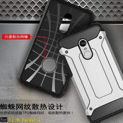 sports shoes 455ef 63522 XiaoMi Redmi Note 3 4 4X Pro Spigen Tough Armor Shock Proof Case Cover