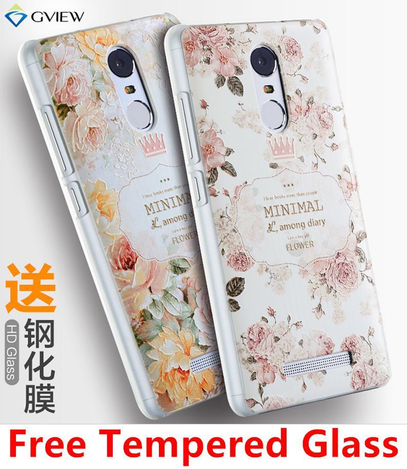 Xiaomi Redmi Note 3 Note3 3D Silicone Case Cover Casing Tempered Glass
