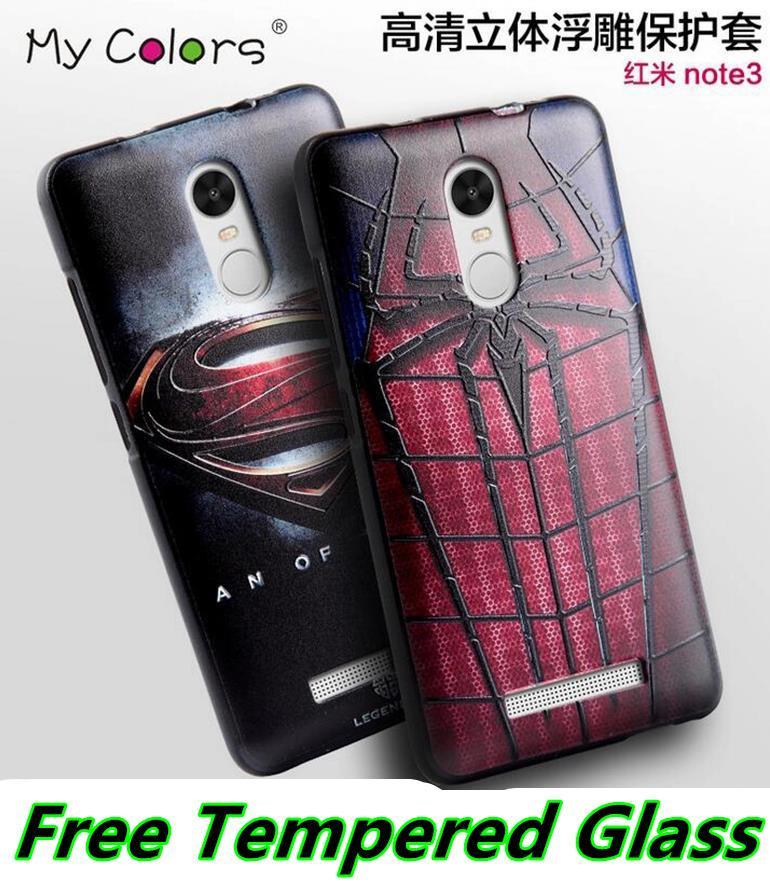 release date: 603bd 5934a Xiaomi Redmi Note 3 Pro 3D Silicone Case Cover Casing + Tempered Glass