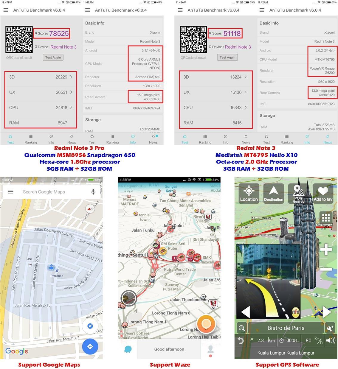 Xiaomi Redmi Note 3 Pro Snapdragon 650 (3GB+32GB ROM) Global Version!