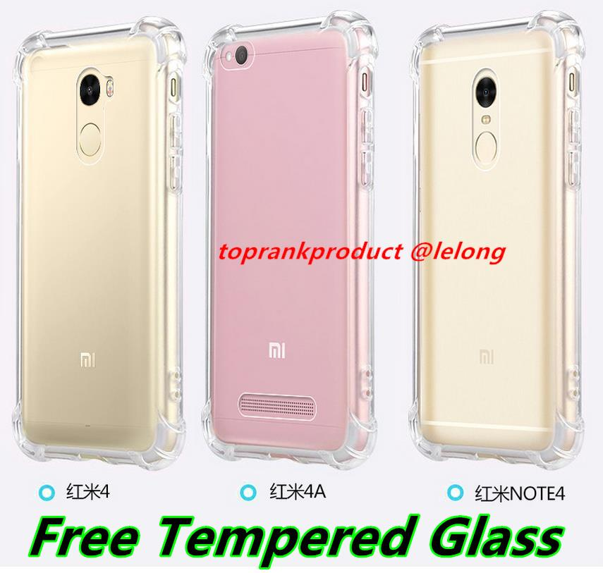 outlet store ddb3e 6b1a1 Xiaomi Redmi Note 4 4A 4X Prime Ring Case Cover Casing +Tempered Glass