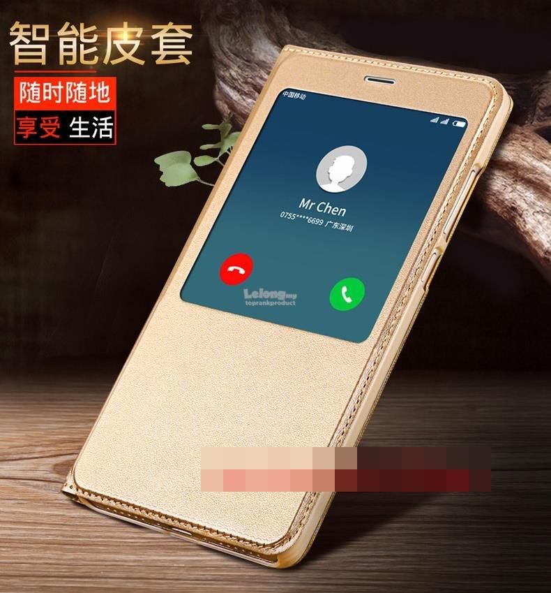 sale retailer d98a4 7cc3f Xiaomi Redmi Note 4 4X Flip Autowakeup Smart Leather Case Cover Casing