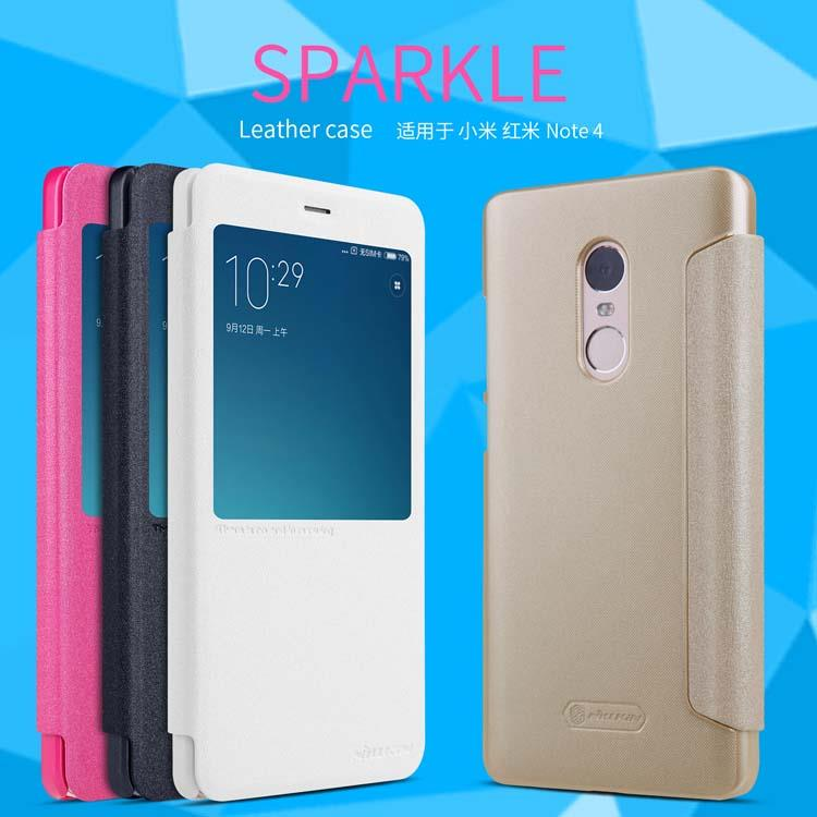 low priced cc928 9fadd XiaoMi Redmi Note 4 4X Pro Nillkin New Sparkle Leather Flip Case Cover