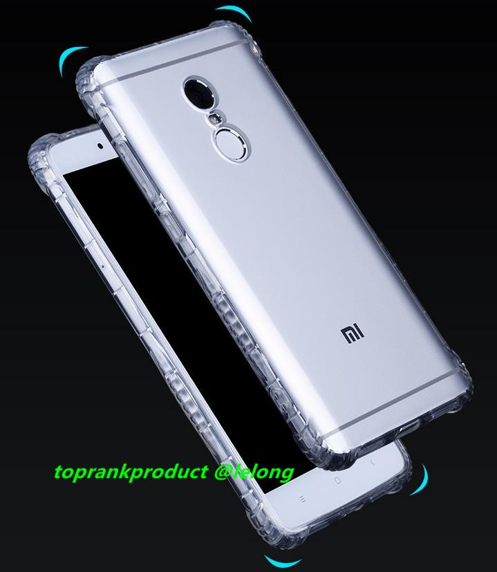 buy online 8e028 e7d32 Xiaomi Redmi Note 4 4X Transparent TPU Armor Back Case Cover Casing