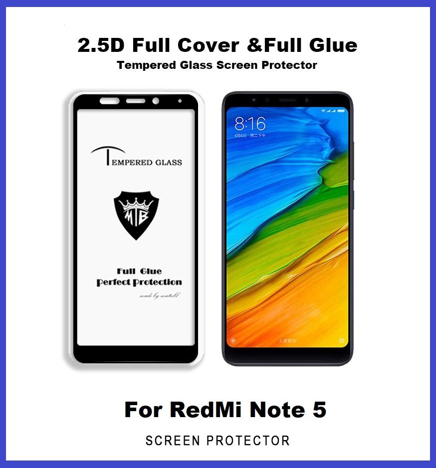 Xiaomi Redmi Note 5 Full Glue Cove End 12 28 2020 1200 Am Temperred Glass Softcase 3 Coverage Colour Tempered