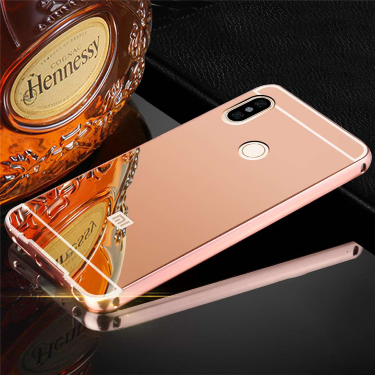 sneakers for cheap b620b f15c6 Xiaomi Redmi Note 5 Mirror Metal Bumper Case Cover Casing