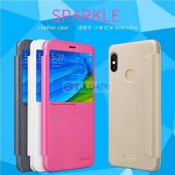 half off 22543 2095d Xiaomi Redmi Note 5 Pro Nillkin SPARKLE Smart Cover Slim Flip Case