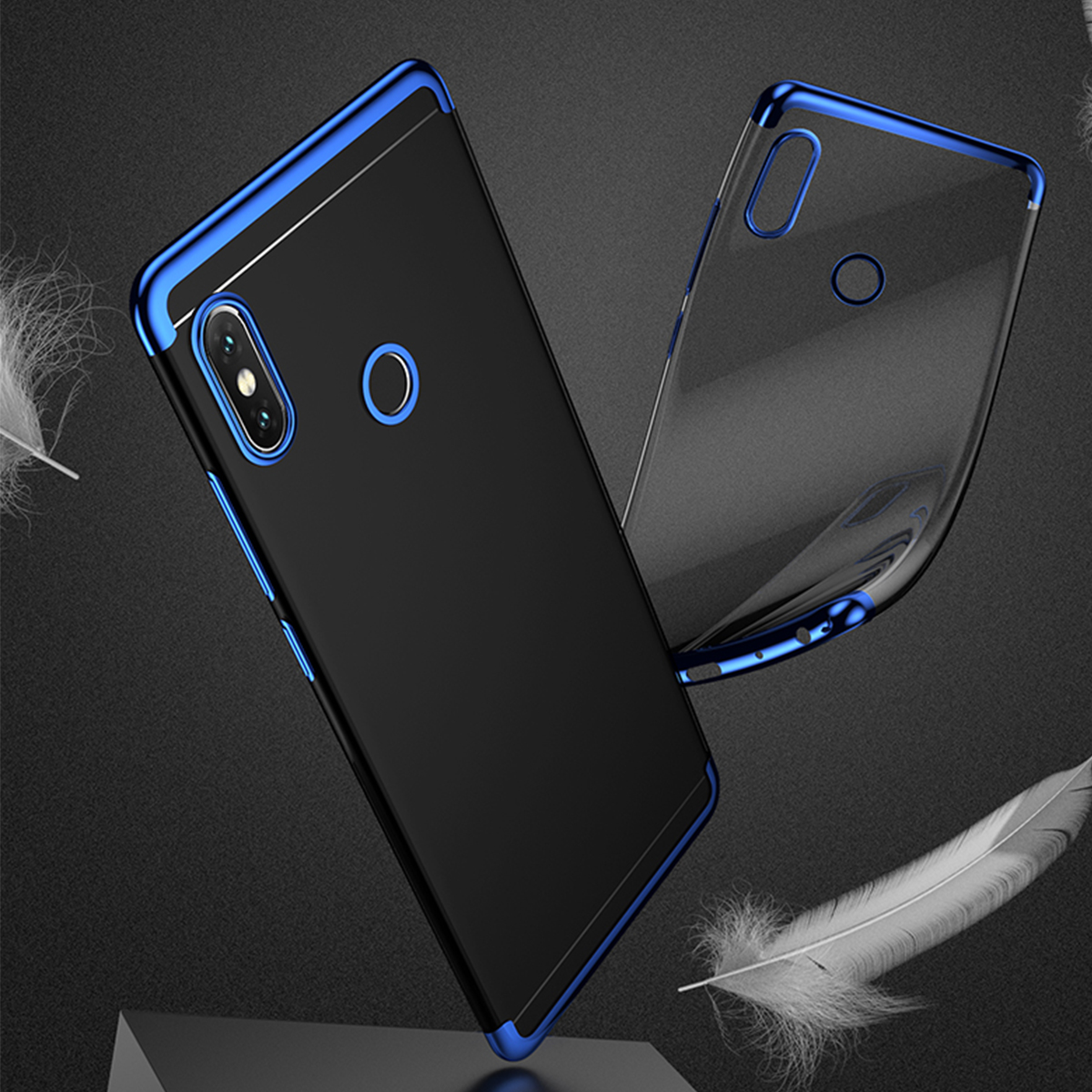 new products 7413f 3c533 Xiaomi Redmi Note 5 Redmi S2 Mi Mix 2S Electroplate TPU Soft Case Cover  Casing