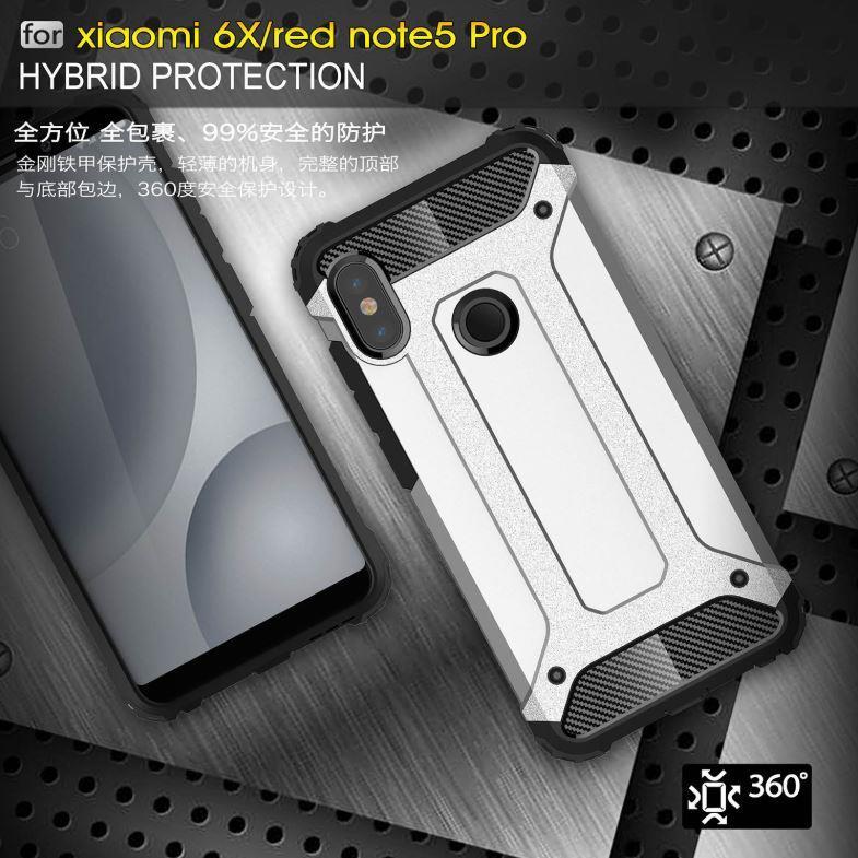 new style 81a5c 289a8 XiaoMi Redmi Note 5 Spigen Tough Armor Hybrid Shockproof Case Cover