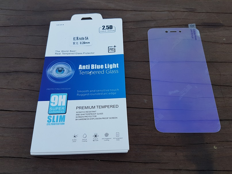 Xiaomi Redmi Note 5A Eye Protection Anti Blue Light Tempered Glass. ‹ ›