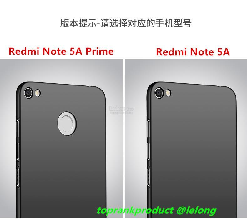 Xiaomi Redmi Note 5A / Prime Hard Back Case Cover Casing + Ring Holder