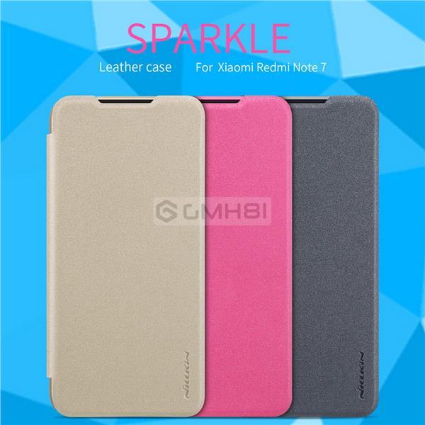 reputable site f08c9 ad174 Xiaomi Redmi Note 7 Nillkin SPARKLE Ultra Slim Leather Flip Cover Case