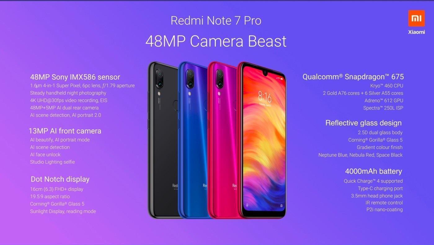 Xiaomi Redmi Note 7 Pro 6+128GB Global Ver / 48MP Camera Redmi Note 7