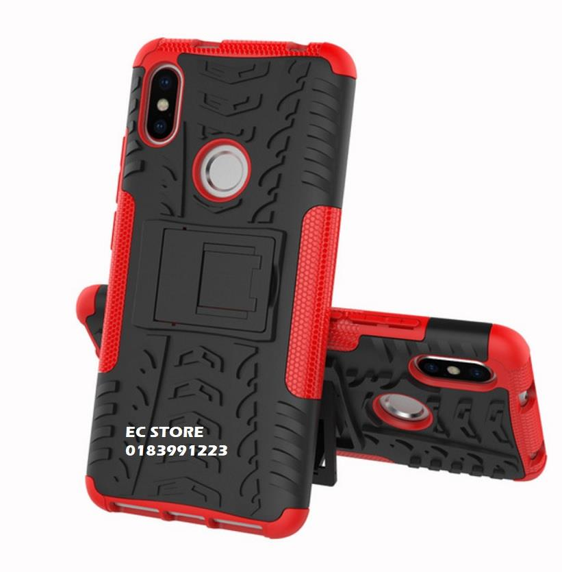 official photos dd2bf dfb95 Xiaomi Redmi S2 Note 5 6 Pro Mi A2 Silicon Stand Tough Armor Case