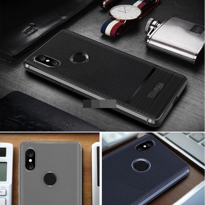 Xiaomi Redmi S2 Rugged Armor Soft Silicone TPU Back Case Cover Casing