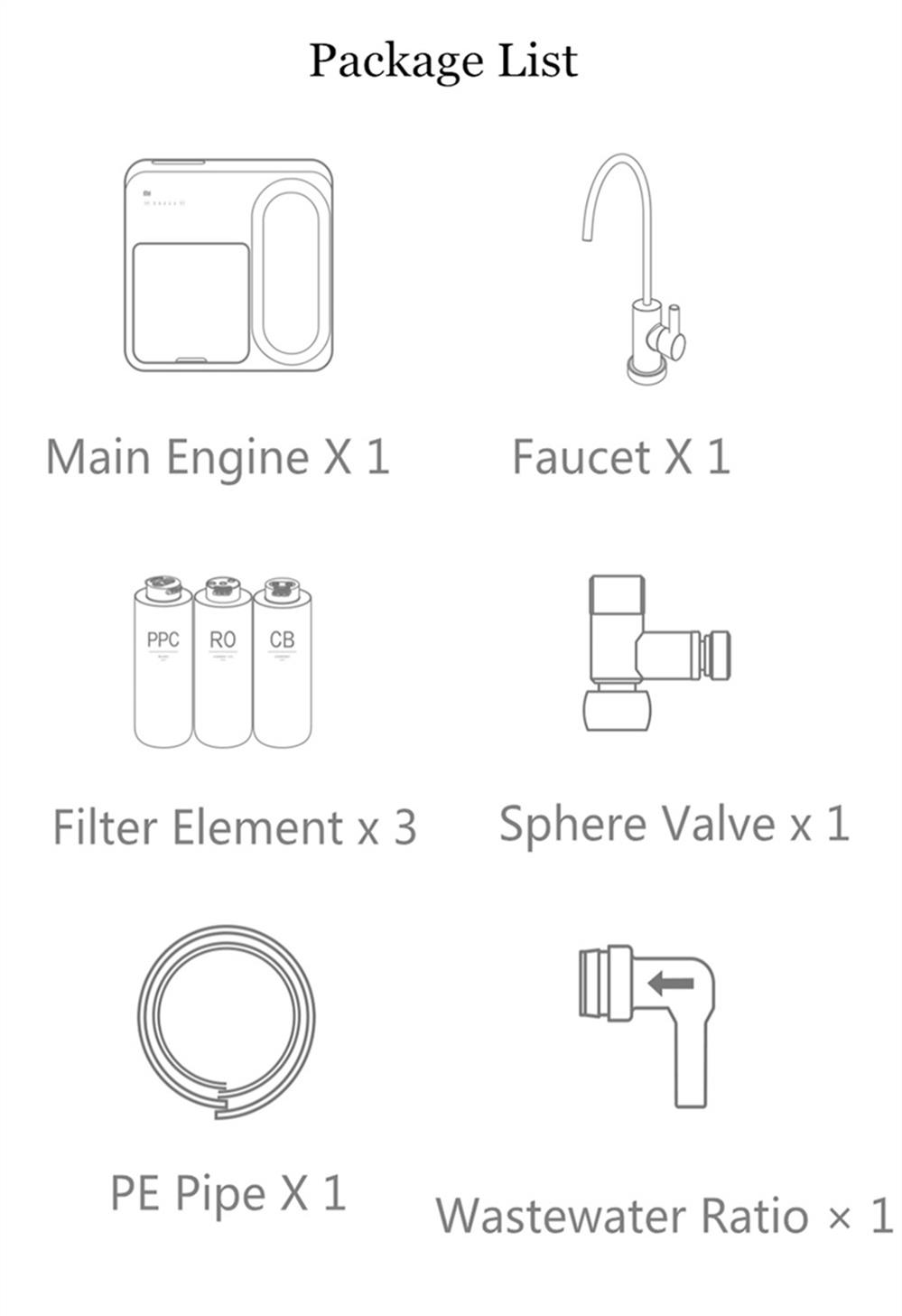 Xiaomi Smart Water Purifier Filter RO Filtration System App MRB23