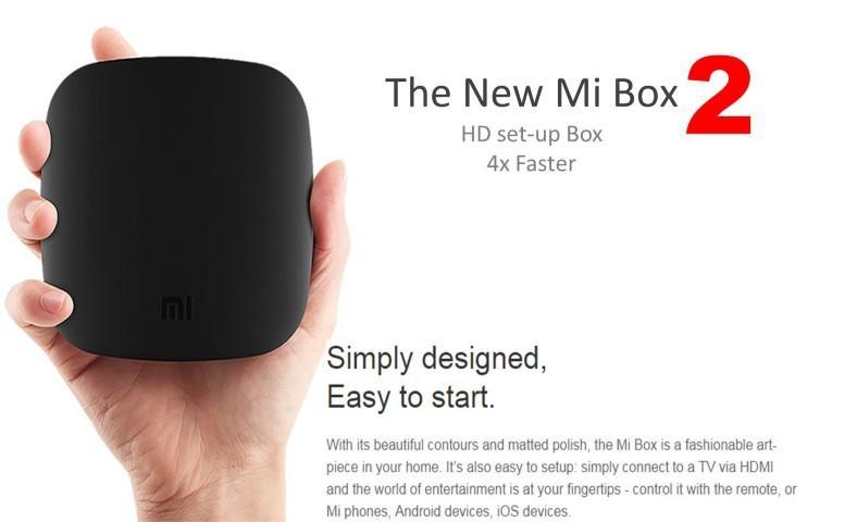 Xiaomi TV Box New Mi Box version 2 Media Box Wifi Airplay Miracast