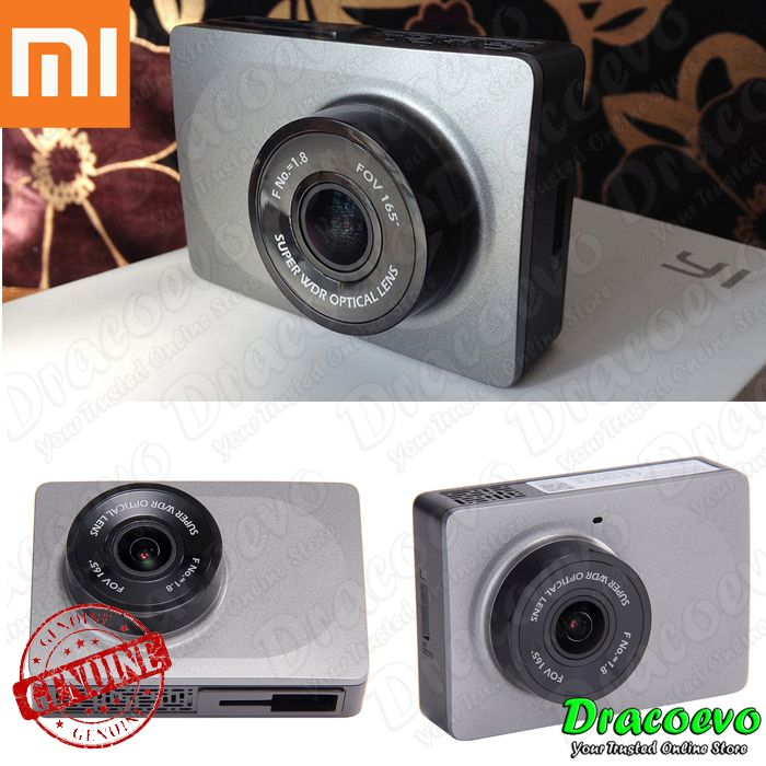 Xiaomi Yi 1080P Car WiFi DVR Chinese UI Version Dual USB Port (Grey)