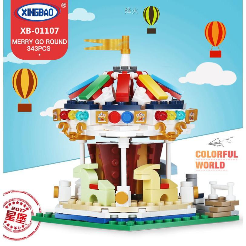 XingBao 01107 The Cheerful Go Round Building Blocks Bricks Educational