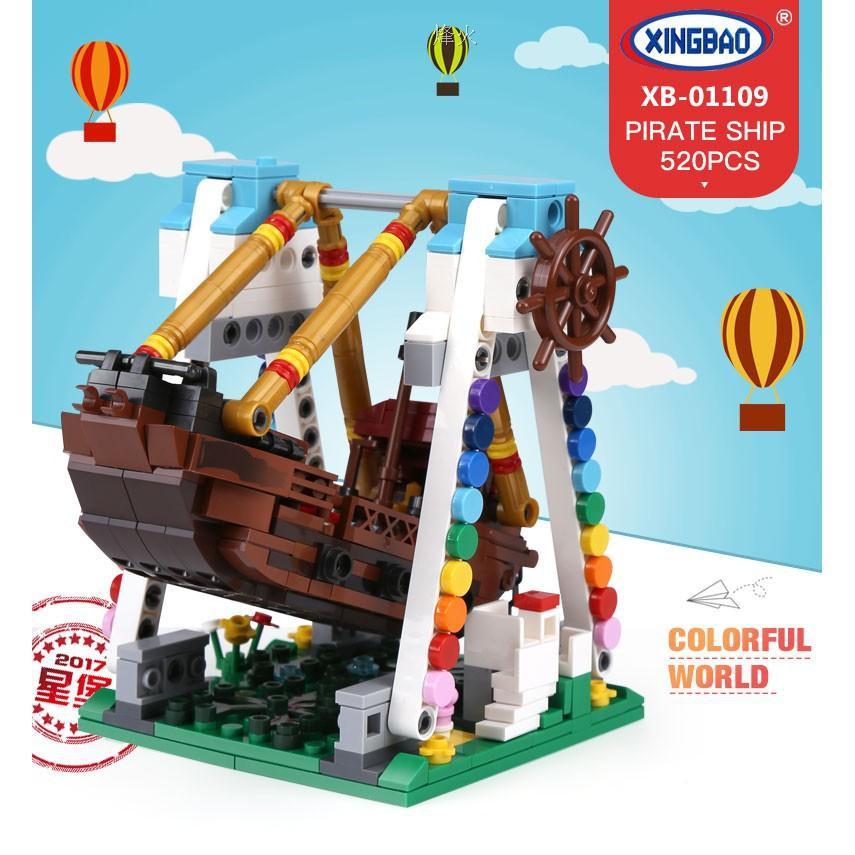 XingBao 01109 The Pirate Ship Set Colorful World Series Building Block