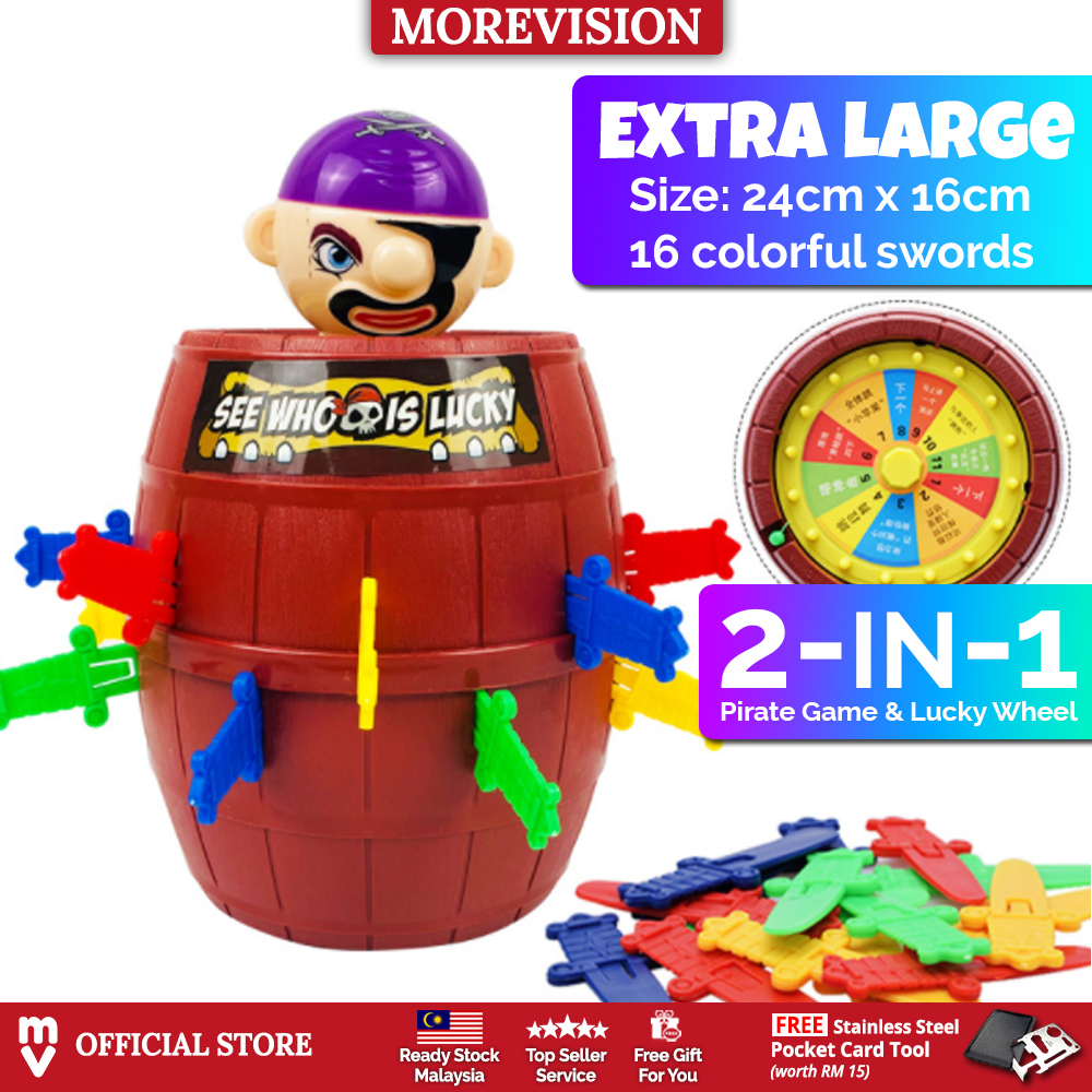 XL Size Pirate Toy Running Man 2 in 1 Pop Up Pirate Lord Barrel