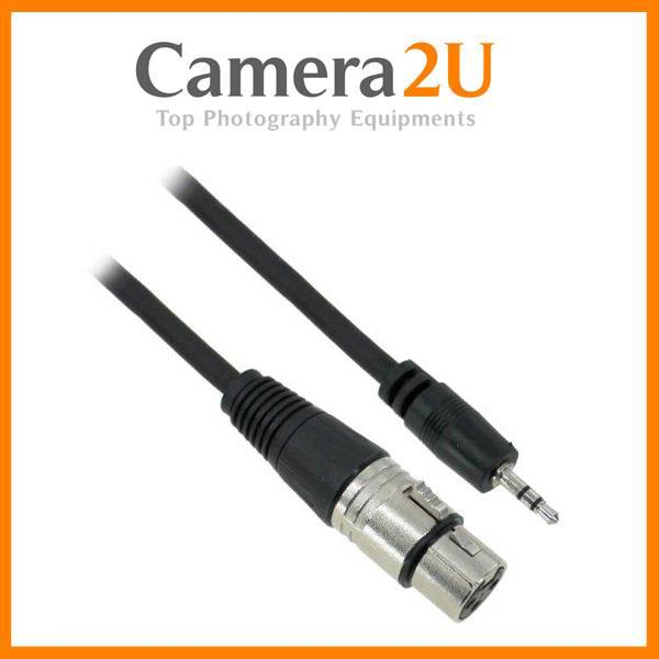 XLR Female to 3.5mm Jack Microphone Cable 1.5 Meter