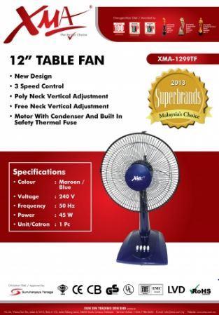 XMA 1299TF 12u201d TABLE FAN