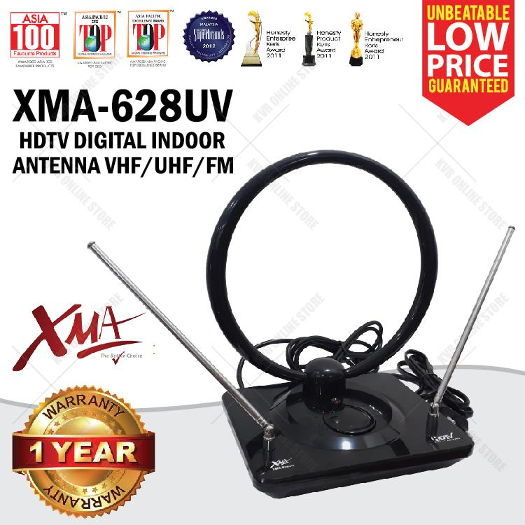 XMA-628UV HDTV DIGITAL INDOOR ANTENNA VHF/UHF/FM Super Strong Antenna