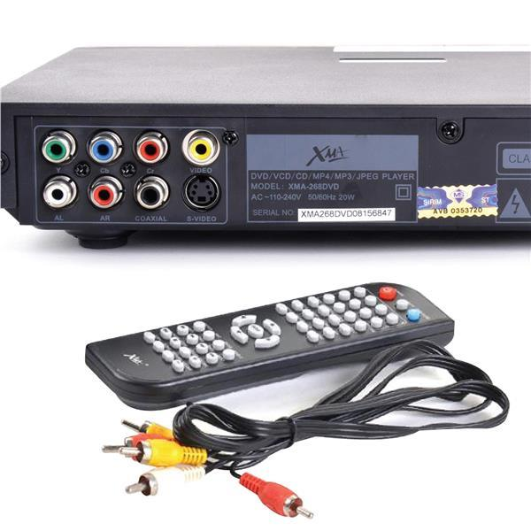 XMA DVD Player With USB Divx Mp4 DVD DvD+R VCD CD CD+R MP3 WMA XMA-2