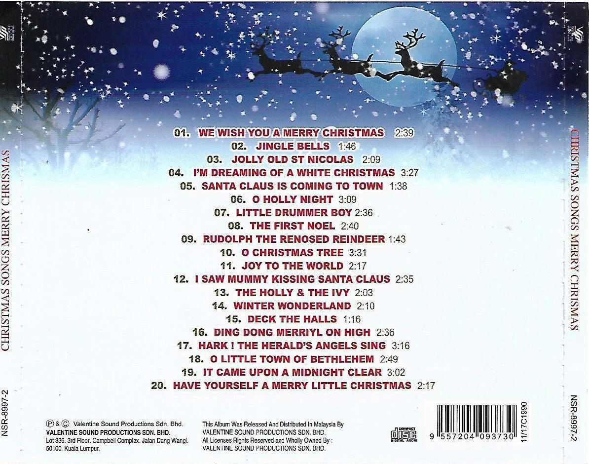Xmas Songs Merry Christmas CD (end 5/9/2021 12:00 AM)