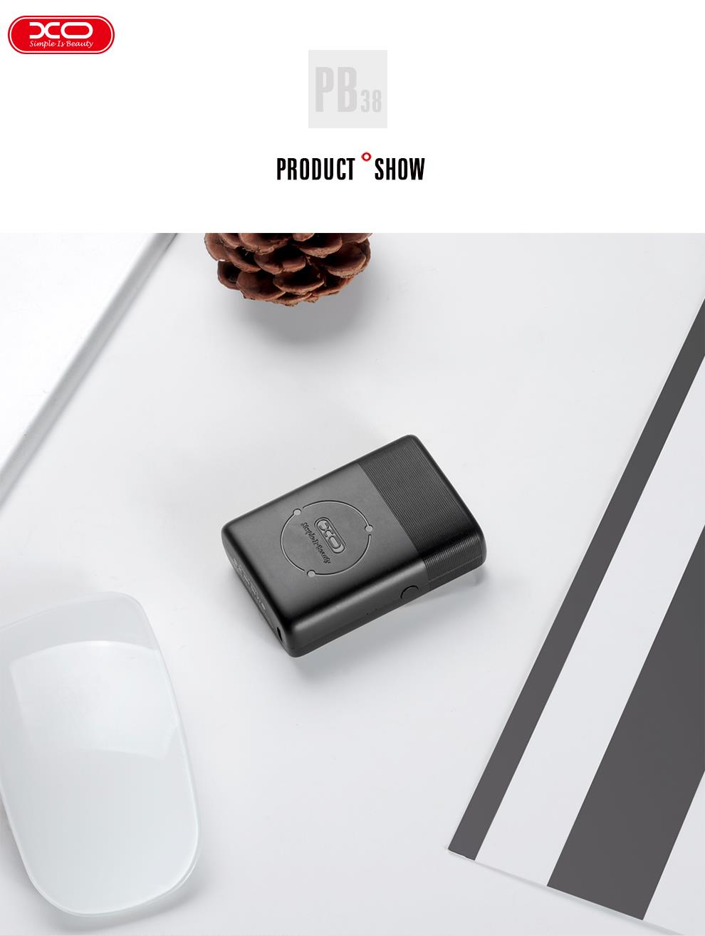 XO MINI PORTABLE POWER BANK 5000 mAH SUITABLE TO PUT IN HANDBAG  & POCKET