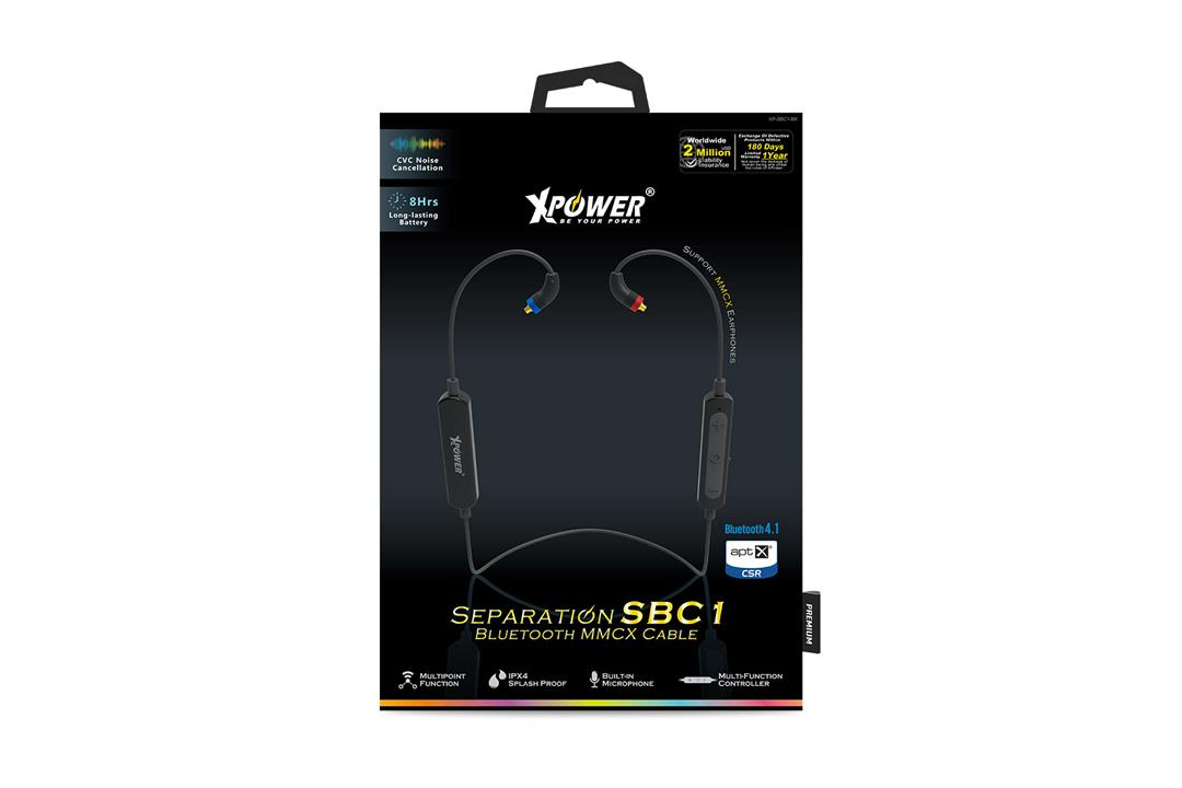 XPower Separation SBC1 Bluetooth MMXC Cable - Black