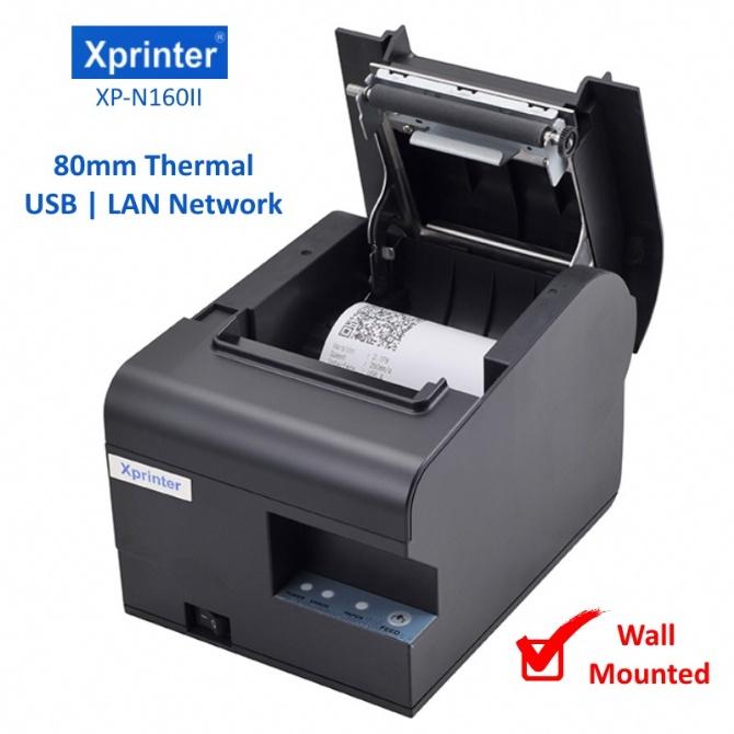 XPrinter XP-N160II POS 80mm Thermal Receipt Printer Wall Mounted USB/