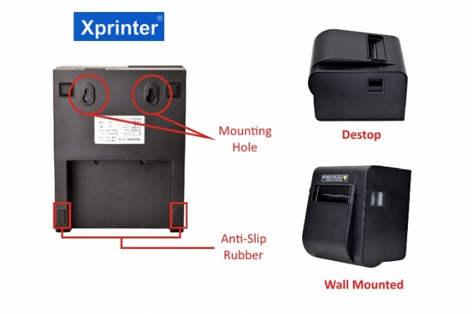 XPrinter XP-N160II POS 80mm Thermal Receipt Printer Wall Mounted USB/