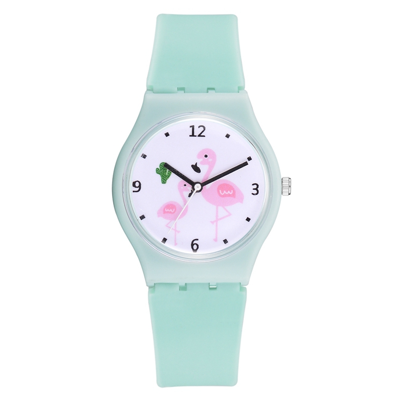 Xr2926 FeMALE Girl Heart Jelly Color Silicone Watch - Women's Watches