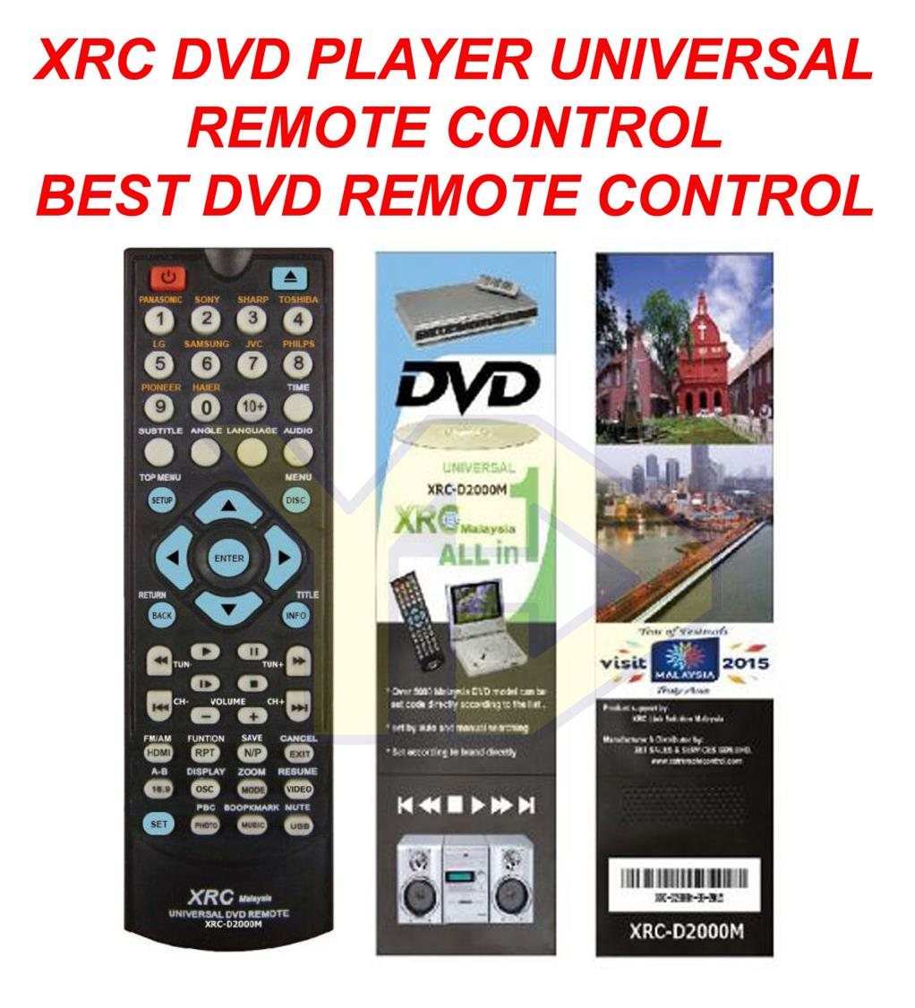 XRC BEST DVD PLAYER UNIVERSAL REMOTE CONTROL XRC-D2000M