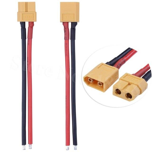 XT60 Connector Male + Famale With 14AWG Silicone Wire Cable (10cm)