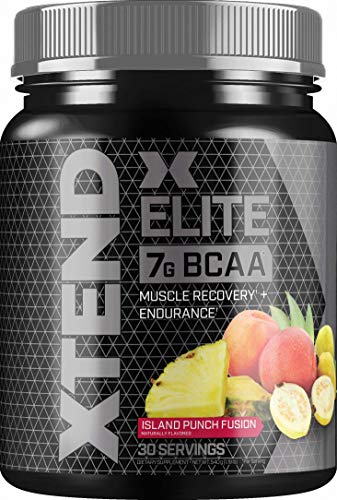 XTEND Elite BCAA Powder Island Punch Fusion | Sugar Free Post Workout Muscle R