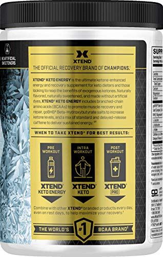 Xtend Keto Energy | The Perfect Keto  & BCAA Powder Ultra Frost | 125mg Caffei