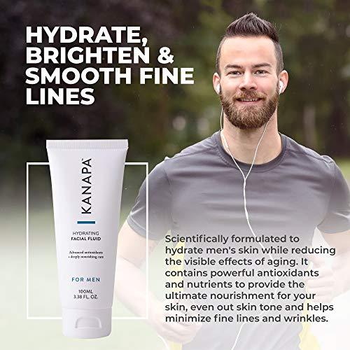 Xtend-Life Kanapa Hydrating Facial Fluid for Men - Daily Men's Face Moisturize
