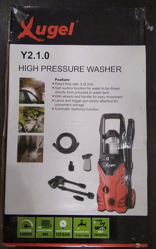 Xugel High Pressure Water Jet Cleaner and washer 110 Bar & 1600W Y210
