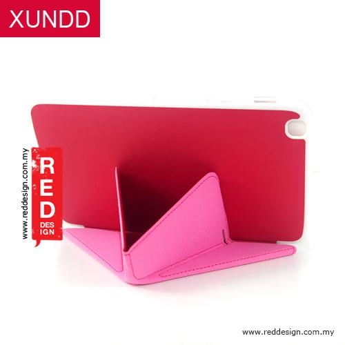 XUNDD Multi Angle Standable Case for Galaxy Tab 3 8.0 T3100 - Red