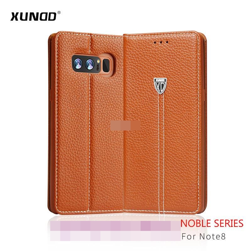 XUNDD Samsung Galaxy Note 8 Flip Leather Stand Case Cover Casing