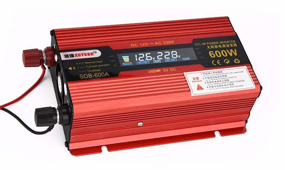 XUYUAN 600W DC 12V to AC 230V Solar Power Inverter