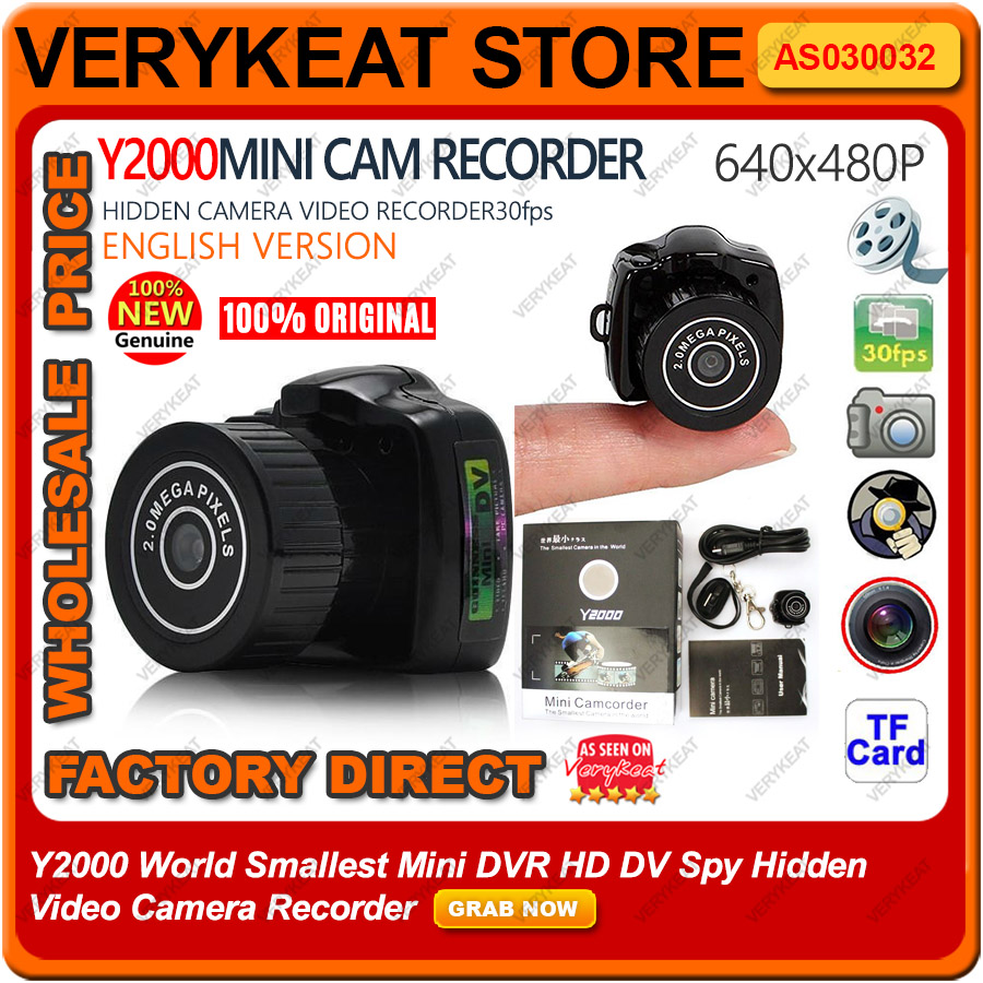 Y2000 World Smallest Mini DVR HD DV Spy Hidden Video Camera Recorder
